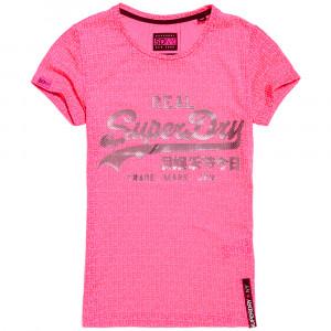 Vintage Logo Burnout Entry T-Shirt Mc Femme
