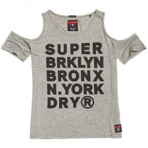 Sport Cold Shoulder Top T-Shirt Mc Femme