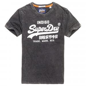 Vintage Logo Indigo T-Shirt Mc Homme