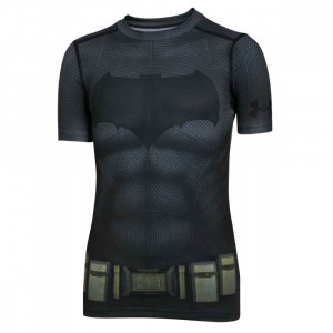 Batman Suit T-Shirt Mc Compression Garcon
