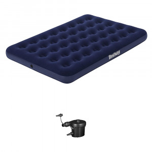 Airbed Matelas Camping 2 Places + Pompe Elect Plug
