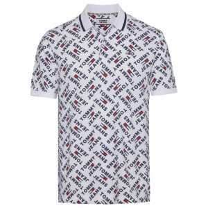 Allover Print Polo Mc Homme