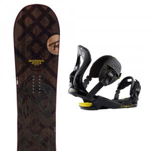 Angus Snowboard + Cobra Fixation Homme