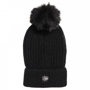 Aries Sparkle Fur Bobble Hat Bonnet Femme