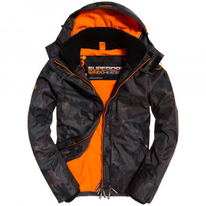 Artuc Hood Print Pop Zip Windcheater Veste Homme