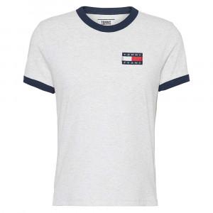 Badge Ringer T-Shirt Mc Femme