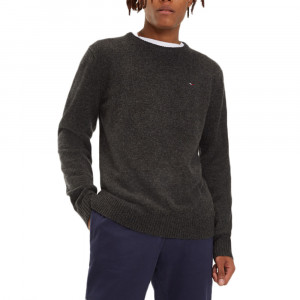 Basic Wool Crew Pull Homme