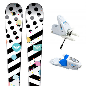 Bonbon Mini Ski + Roxy X B76 Fixations Bébé Fille