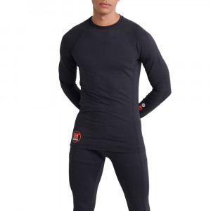 Carbon Baselayer Crew T-Shirt Ml Homme