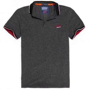 City Oxford S/s Pique Polo Mc Homme