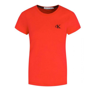 Ck Embroidery Slim T-Shirt Mc Femme