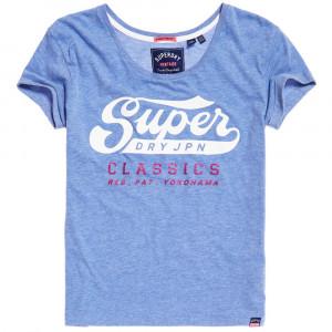 Classic Logo Broderie Slim Bf T-Shirt Mc Femme