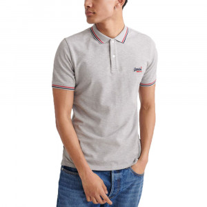 Classic Micro Lite Tipped Polo Mc Homme