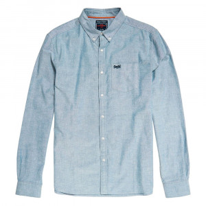 Classic Twill L/s Shirt Chemise Ml Homme