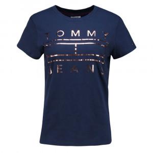 Clean Tommy Flag Logo T-Shirt Mc Femme