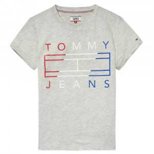 Clean Tommy Flag Logo T-Shirt Mc Femme