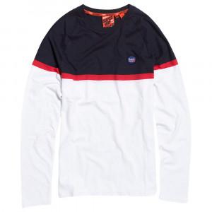 Collective Colour Block T-Shirt Ml Homme