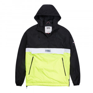 Color Block Coupe-Vent 1/2 Zip Homme