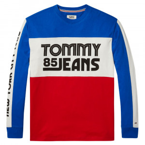 Color Block Long Sleeve Sweat Homme
