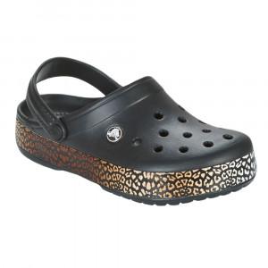 Crocband Leopard Iii Sabot Femme