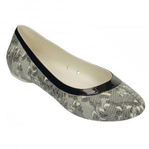 Crocs Lina Shiny Flat Sandale Femme