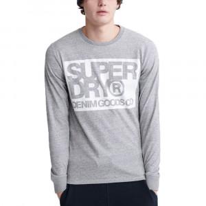 Denim Goods Co Print Ls T-Shirt Ml Homme