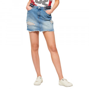 Denim Micro Mini Tape Jupe Femme