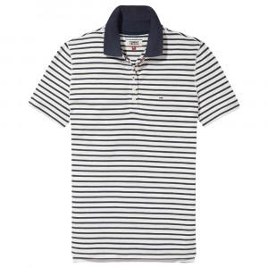Essential Stripe Polo Mc Femme