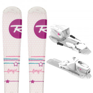 Fun Girl Kid-X Ski + Kid-X 4 B76 Fixations Fille
