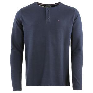 Garment Dye Henley T-Shirt Ml Homme