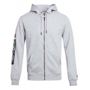 Gray Sweat Zip Homme