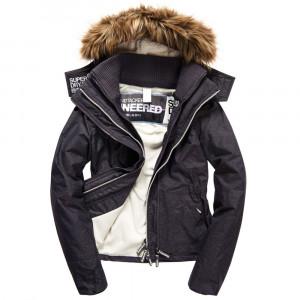 Hooded Fur Sherpa Wind Attacker Blouson Femme