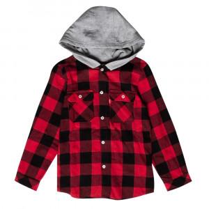 Hooded Shirt Chemise Ml Cap Garçon
