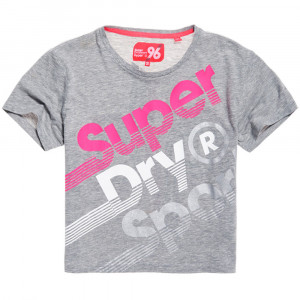 Hyper Sport Label Crop T-Shirt Mc Femme