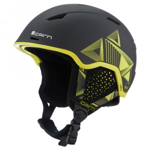 casque de ski Cairn noir et jaune