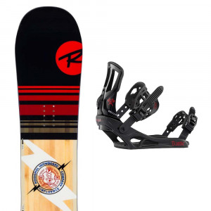 Jibfluence Snowboard + Battle Fixation Enfant