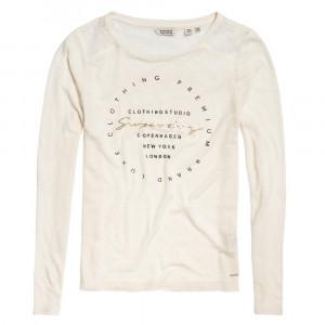 Lace Black Graphic T-Shirt Ml Femme
