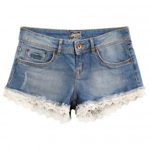 Lace Hot Short Jeans Femme