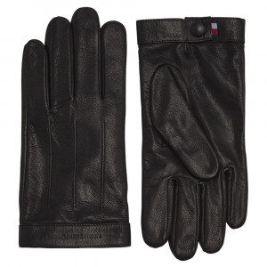 Logo Embossed Leather Gants Homme
