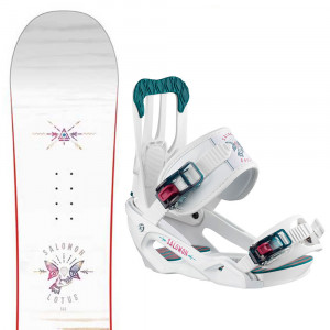 Lotus Snowboard+Spell Fixations Femme