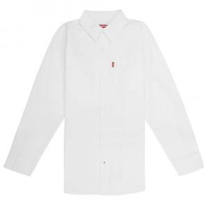 Lvb L/s Stretch Poplin Shirt Chemise Ml Garçon