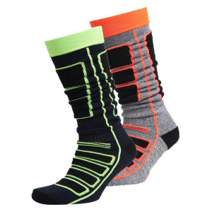 Merino Snow Sock Double Pack 2 Chaussettes Ski Homme