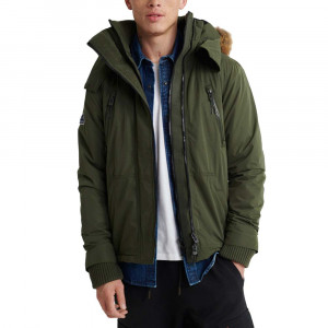 Microfibre Fur Hooded Attacker Veste Homme