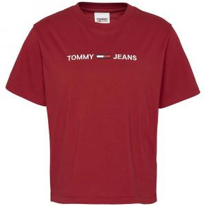 Modern Linear Logo T-Shirt Mc Femme