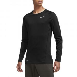 Nike Pro Top Warm Ls Crew T-Shirt Ml Homme