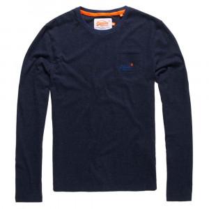 O L Texture Pkt Stripe T-Shirt Ml Homme
