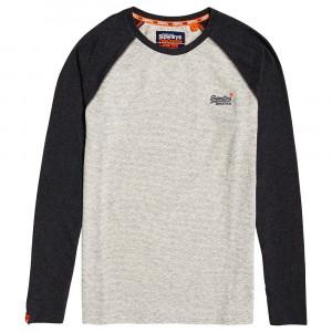 Orange Label Texture Baseball T-Shirt Ml Homme