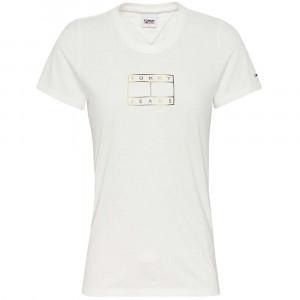 Outline Flag T-Shirt Mc Femme