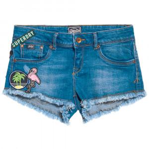 Patches Denim Hot Short Jeans Femme