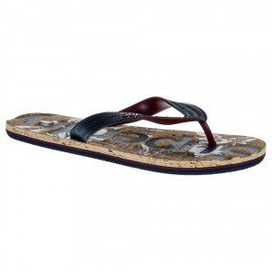 Printed Cork Flip Flop Tong Homme
